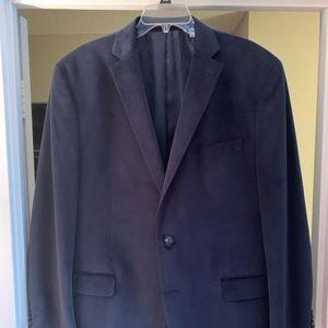 Men's velvet 2 button blazer